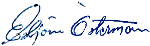 Esbjörn Österman, signatur