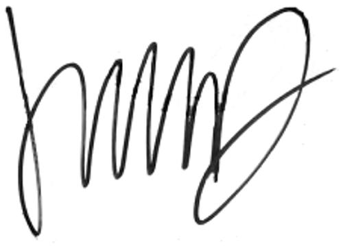 Ludwig Augustinsson, signatur