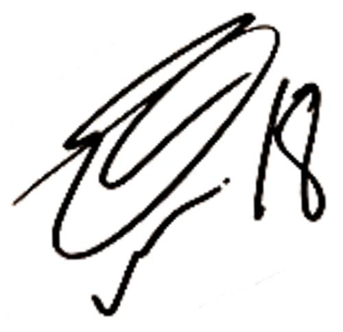 Theodor Elmar Bjarnason, signatur