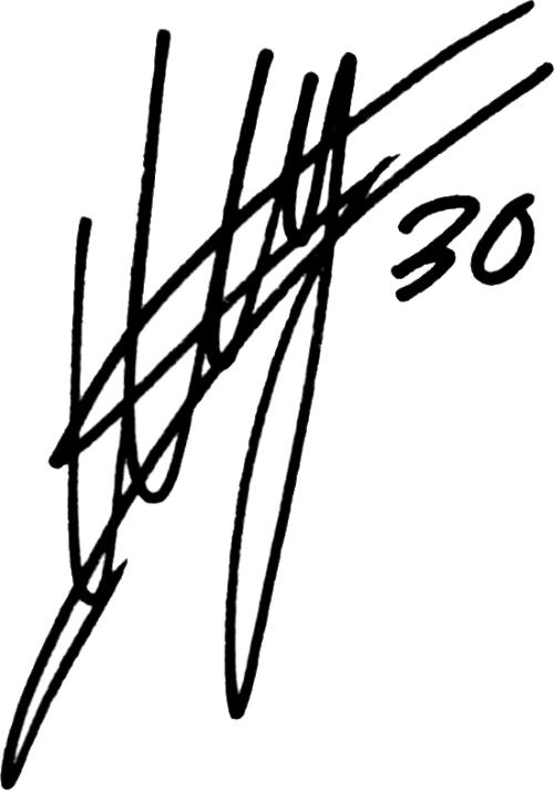 Mattias Bjärsmyr, signatur