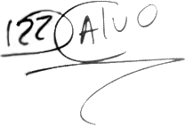 Diego Calvo, signatur