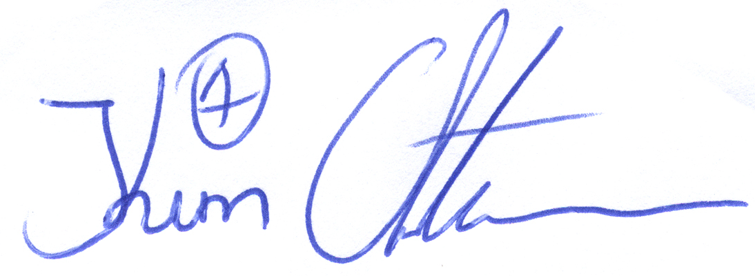 Kim Christensen, signatur