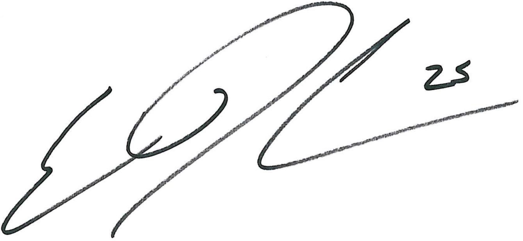 Erik Dahlin, signatur