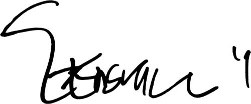 Gustav Engvall, signatur