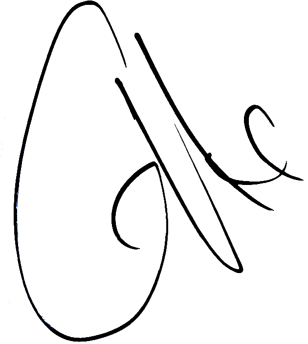 Ali Gerba, signatur