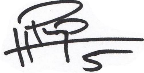 Philip Haglund, signatur