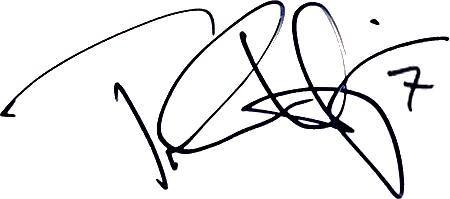 Tobias Hysén, signatur