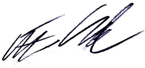 Erik Lund, signatur