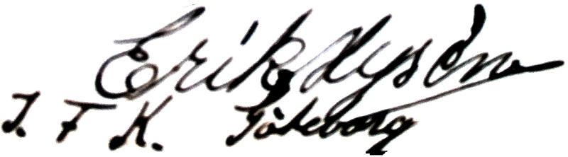 Erik Hysén, signatur