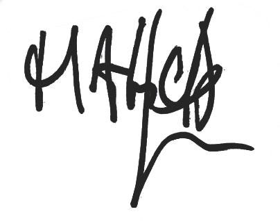 Malick Mané, signatur