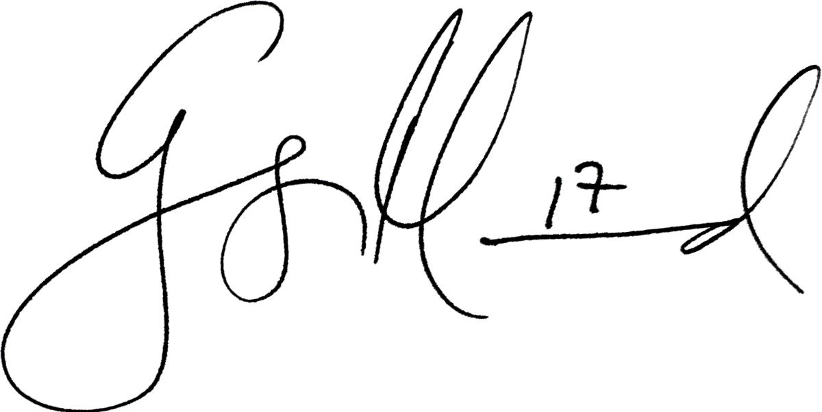 George Mourad, signatur