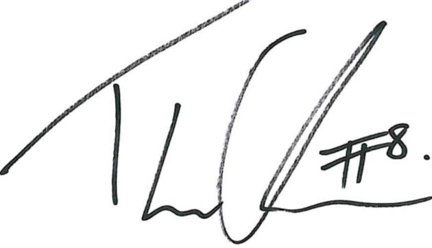 Thomas Olsson, signatur