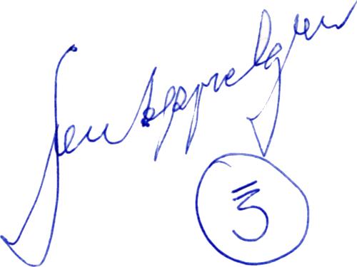 Sven Appelgren, signatur