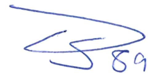 Tobias Sana, signatur