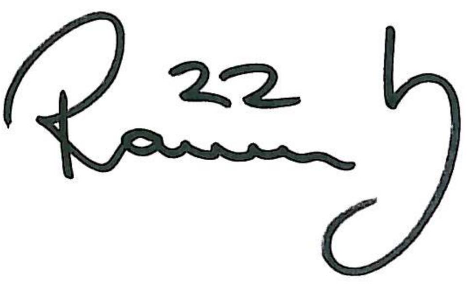 Ragnar Sigurdsson, signatur