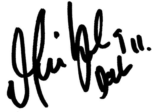 Martin Smedberg Dalence, signatur