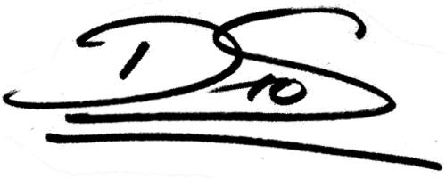 Daniel Sobralense, signatur