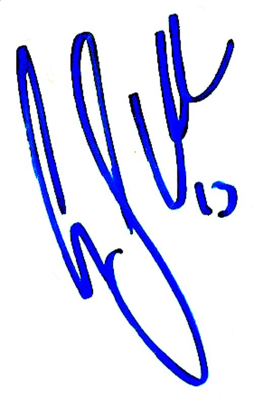 Gustav Svensson, signatur