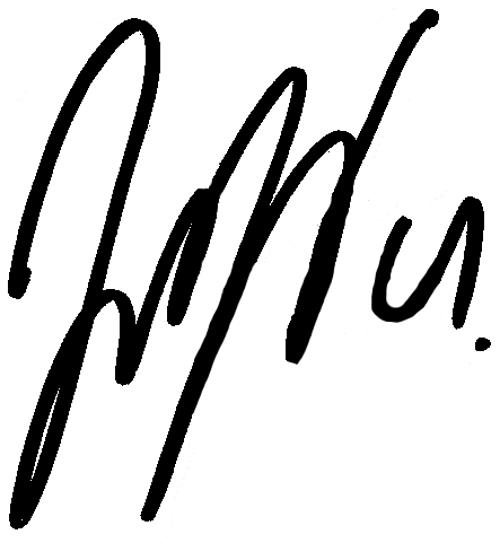 Hjörtur Logi Valgardsson, signatur
