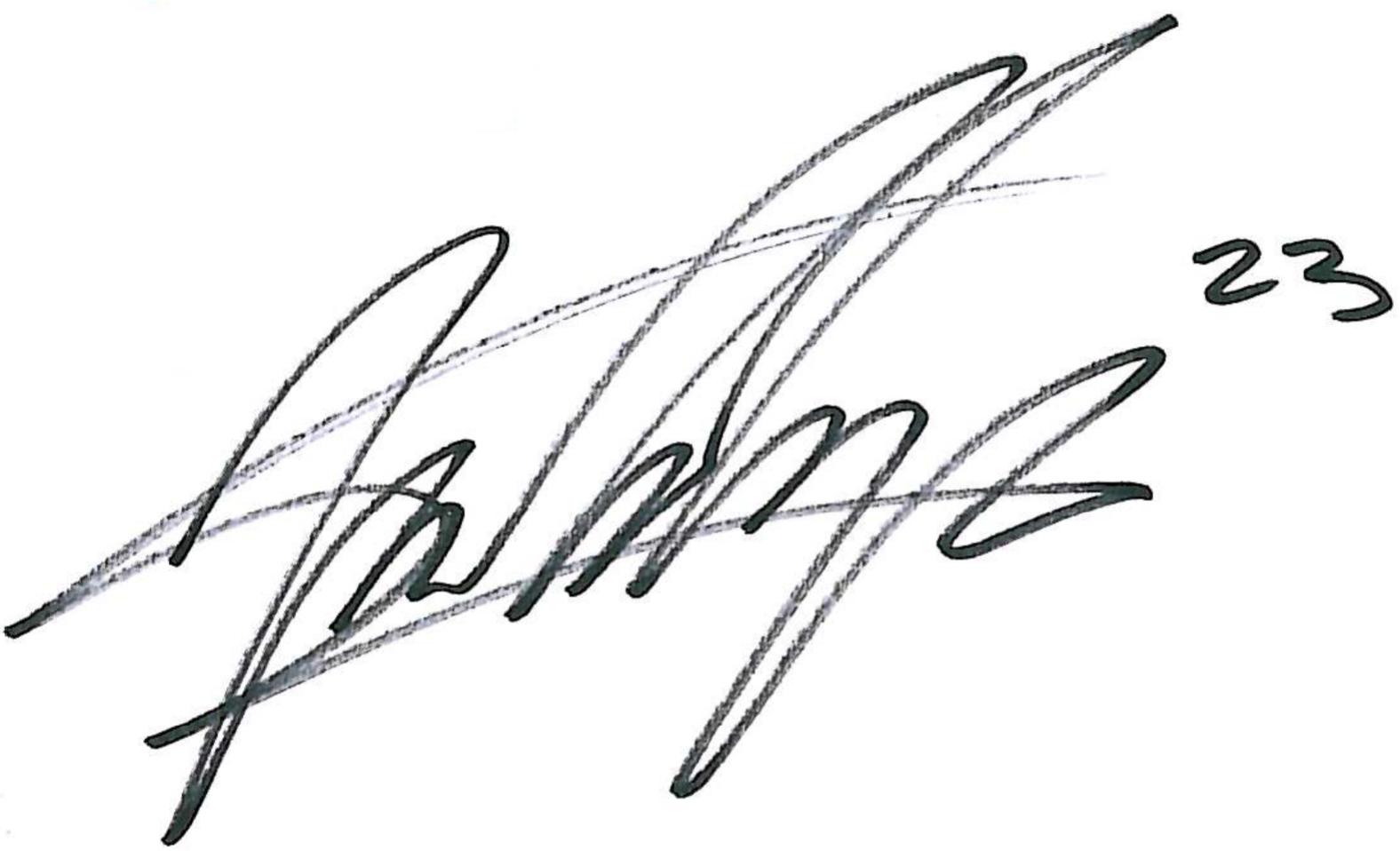 Andrés Vasquez, signatur