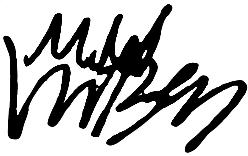 Mikael Ingebrigtsen, signatur