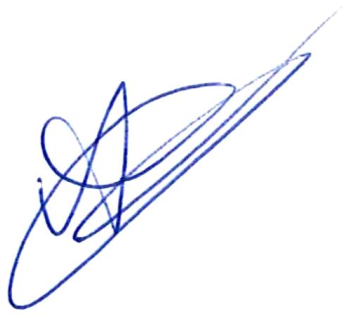André Calisir, signatur