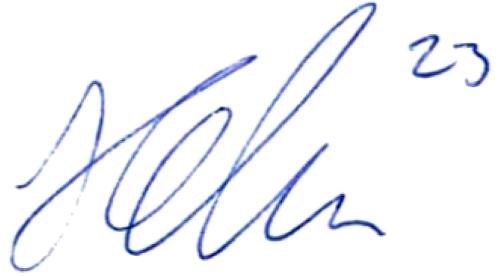 Emil Holm, signatur