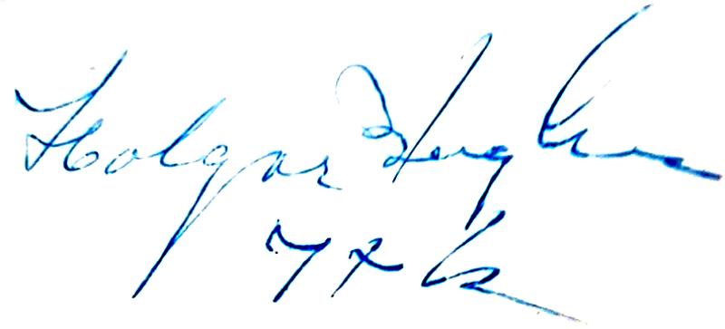 Holger Bennhov (Bengtsson), signatur