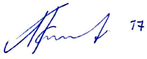 Alexander Farnerud, signatur
