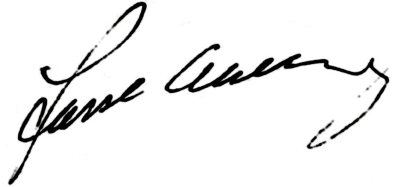 Lars-Erik Ahlberg, signatur
