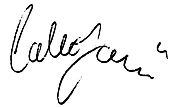 Carl Johansson, signatur