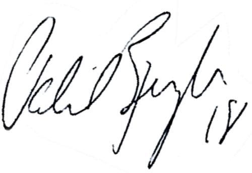 Patrik Bengtsson, signatur