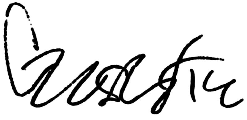 Gustaf Norlin, signatur