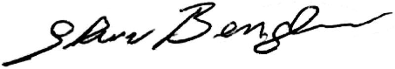 Sture Bengtsson, signatur